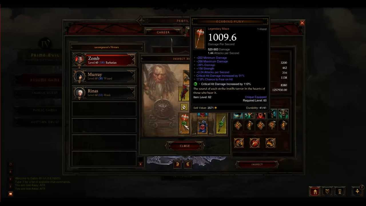 Diablo 3: Over 1 Million DPS Barbarian Paragon Level 100 (v1.08) - YouTube