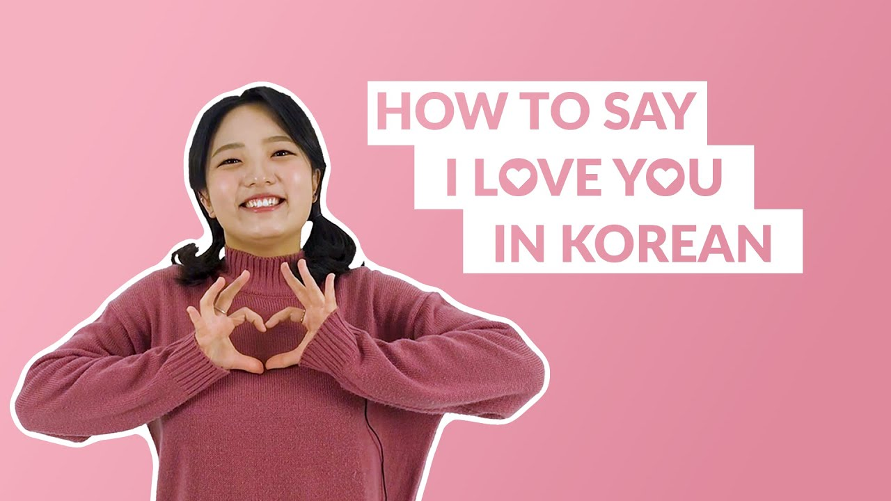 How to Say I LOVE YOU in Korean  13 Day Korean
