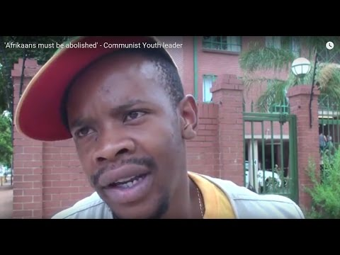 'Afrikaans must be abolished' - Communist Youth leader