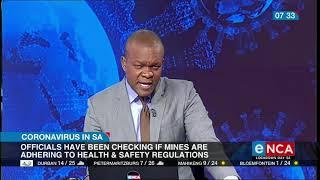 Gwede Mantashe talks on  mining industry workers