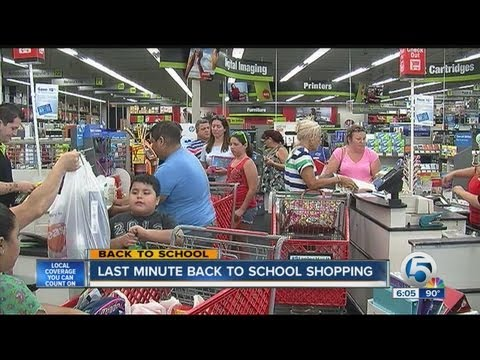 Last minute back-to-school shopping at Staples in West Palm Beach