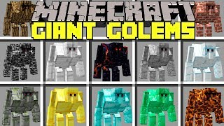 Minecraft GIANT GOLEMS MOD l CREATE GIANT GOLEMS TO PROTECT YOU! l Modded Mini-Game