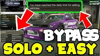 Bypass Daily Sell Limit On Gta 5 Online Using GLITCH! (GTA 5 Online Money Glitch) Sell Cars!
