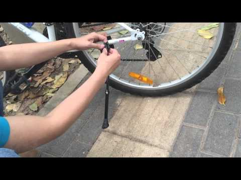 How to install MTB Road Bike Side Kickstand Mountain Bicycle Adjustable Alloy Stand