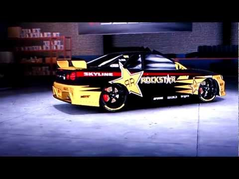 Midnight Club Los Angeles - Rockstar Energy Drink Nissan Skyline GTR R34 Tuning HD