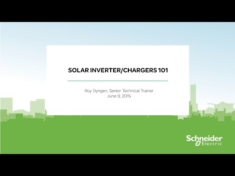 [Webinar Replay] Solar Inverter/Chargers 101