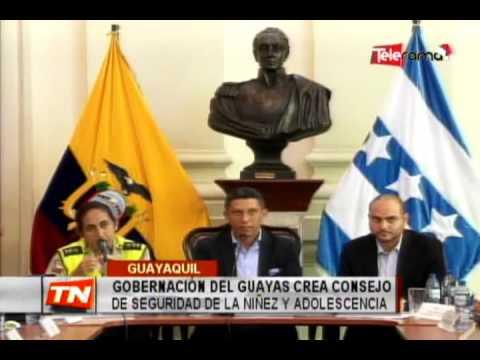 Gobernador del Guayas crea consejo de seguridad de la niñez y adolescencia