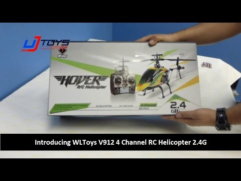 UJToys Introducing WLToys V912 4 Channel RC Helicopter 2.4G