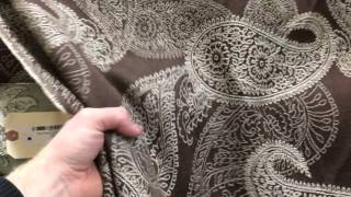 Paisley Brown And Cream   Upholstery / Drapery & Curtain Fabric By The Yard