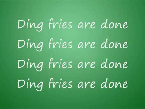 Peter Griffin- Ding fries are done