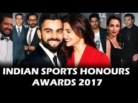 Indian Sports Awards 2017 | Full Event | Virat Kohli, Anushka, Sania Mirza, Aamir Khan