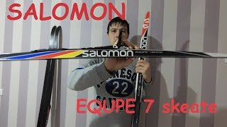 лыжи Salomon Equipe 7 Skate, крепления  ProLink