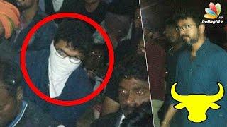 Ilayathalapathy Vijay joined Marina protest | Jallikattu Ban Latest Update | RJ Balaji Speech