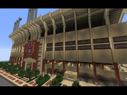 Minecraft Project - Jordan-Hare Stadium - New and Improved