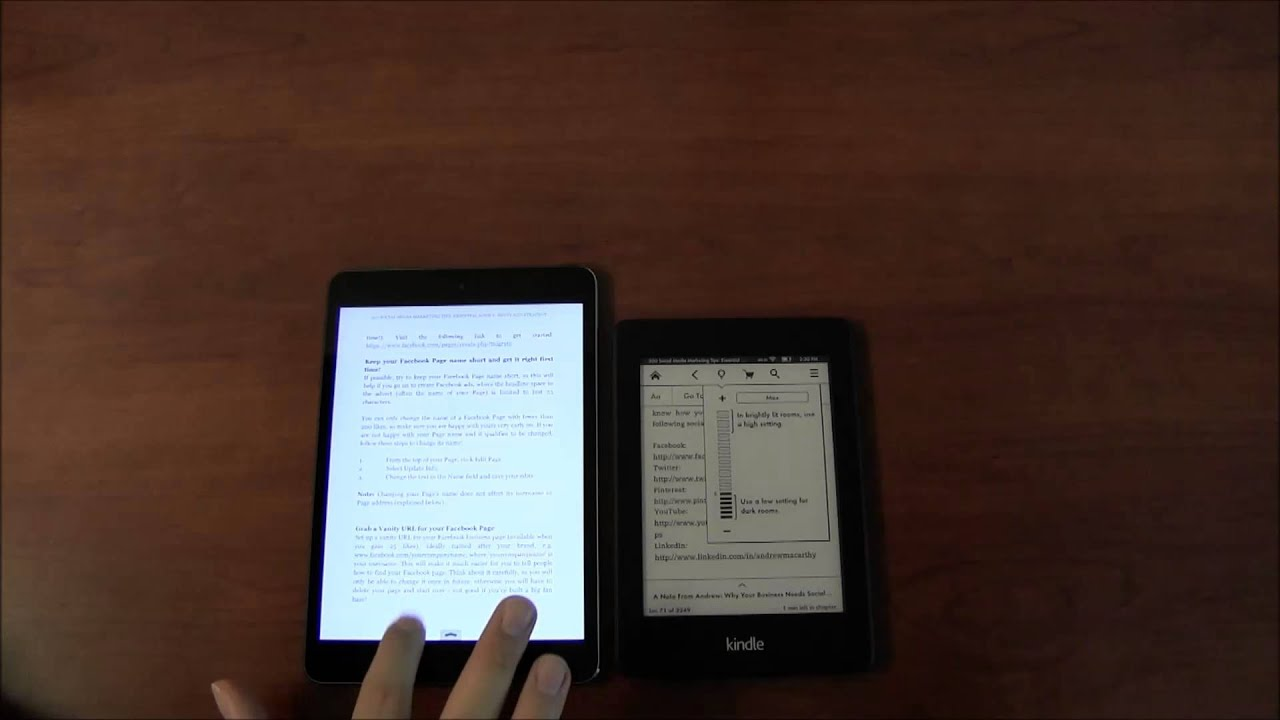 Apple Ipad Vs Kindle: IPad Mini 2 Vs. Kindle Paperwhite 2013 Comparison