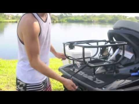 Jetski fishing rack installation by kool pwc stuff youtube for Jet ski fishing rack