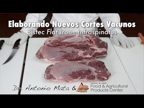 Fabricating New Beef Cuts Flat Iron Steak In Spanish Youtube