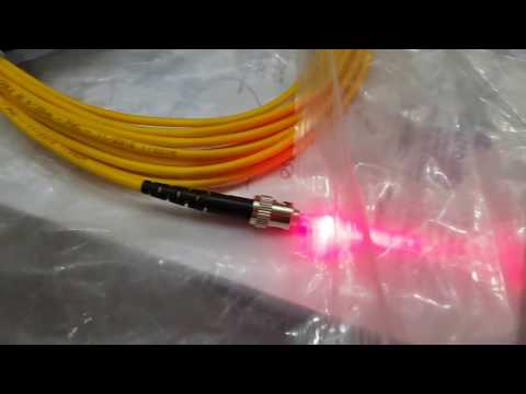 How To Check Fiber Optic Cable . Testing Of A Fiber Optic Cable By Laser.
