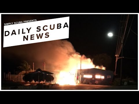 Daily Scuba News - The Oldest Dive School In The South Caribbean Has Burnt Down