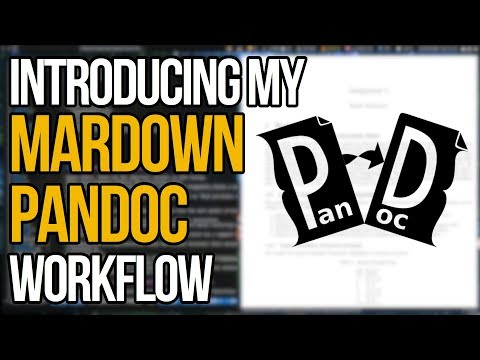 Introducing My Workflow With Pandoc Markdown