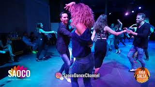 Man and Natalija Agarkova Salsa Dancing at Riga Salsa Festival 2018, Saturday 11.08.2018