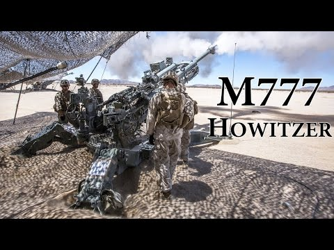 US Marines Heavy Artillery Fire M777 155mm Howitzers in Action