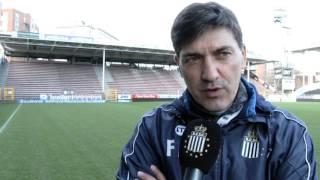 Felice Mazzu avant Club Brugge K.V. - R.Charleroi S.C.