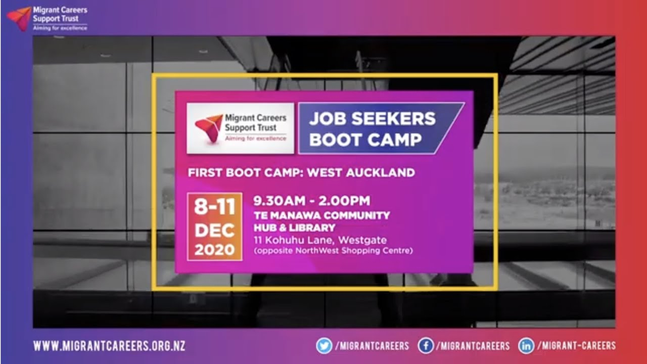 Job Seekers Boot Camp: Workshop 1 -  Highlights