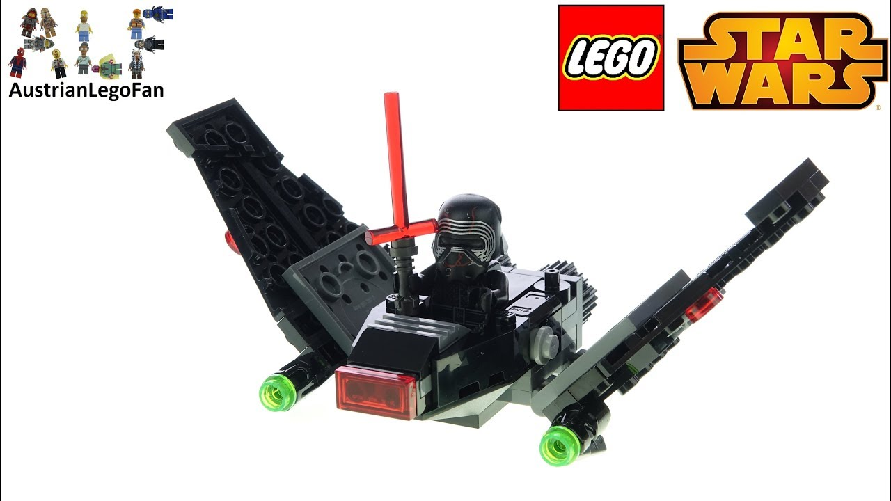Lego Star Wars 75264 Kylo Ren S Shuttle Microfighter Lego Speed Build Review Youtube