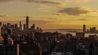 Sunset Time Lapse, New York City, Jan 2014