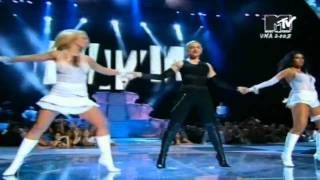 Britney Spears, Madonna, Christina Aguilera & Missy Elliott - Like a Virgin/Hollywood (VMA 2003)
