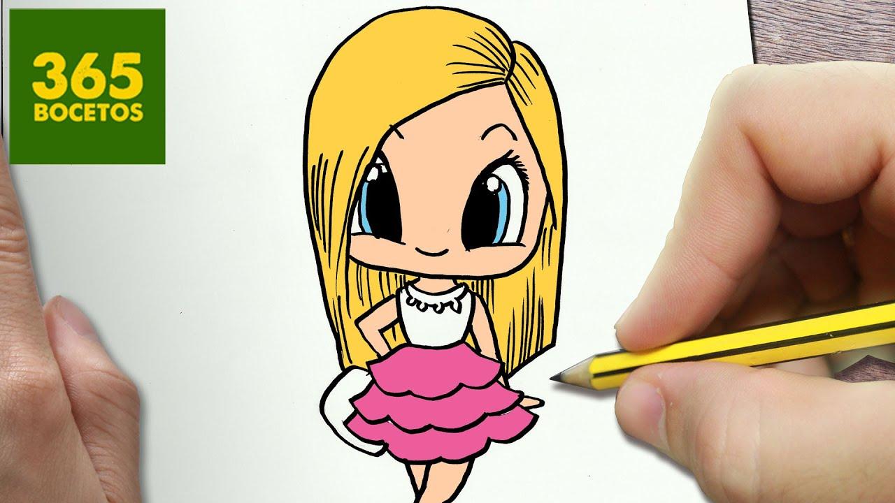 Como Dibujar Barbie Kawaii Paso A Paso Dibujos Kawaii Faciles