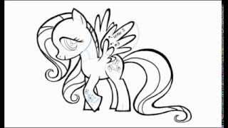 How to Draw Fluttershy a Pegasus Pony
