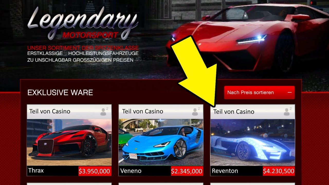 Diese 5 Fahrzeuge Kommen Beim Casino Dlc In Gta Online Youtube