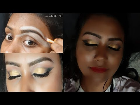 eye makeup in a very easy way//for beginners//party makeup