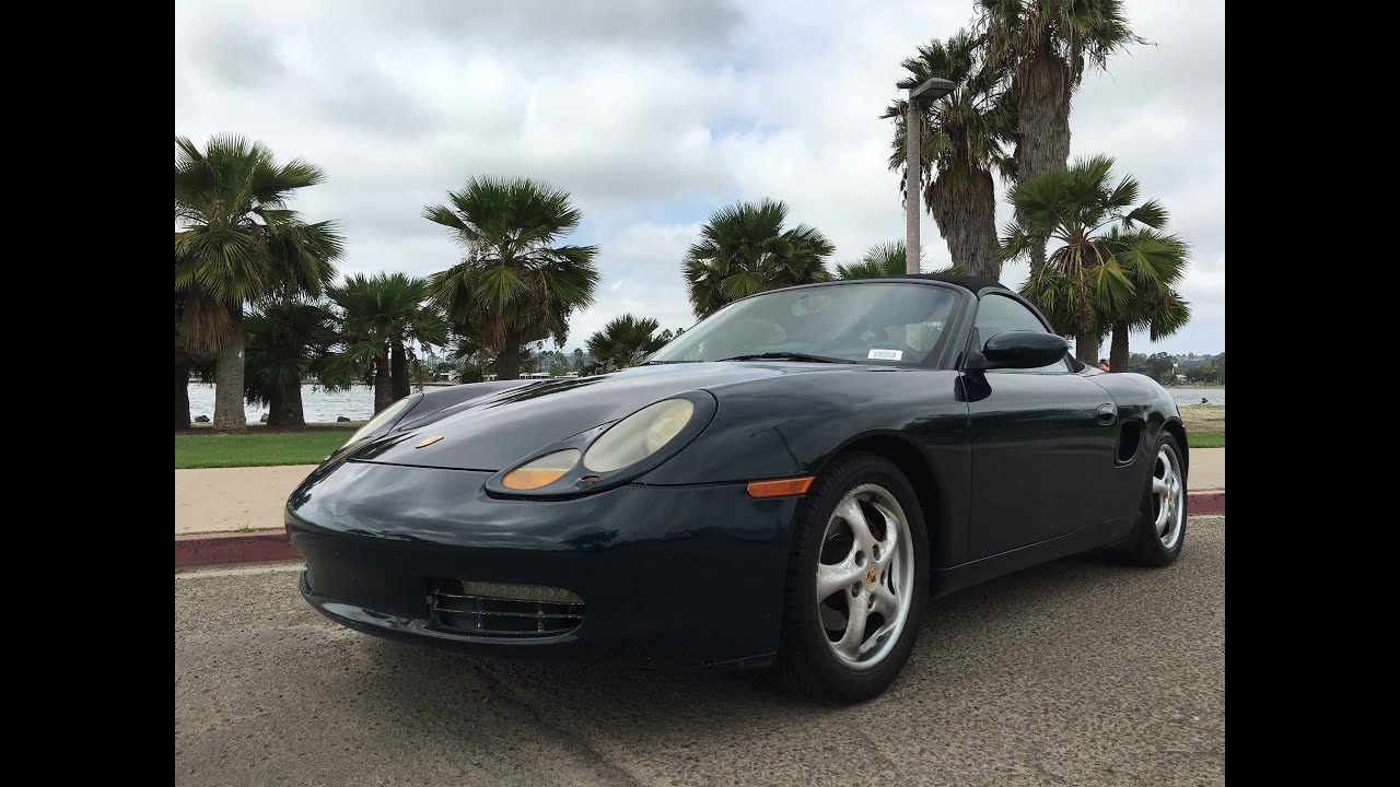 1998 porsche boxster convertible soft top walk around complete for sale youtube. Black Bedroom Furniture Sets. Home Design Ideas