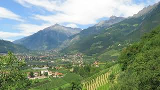 Mountains surrounding Merano - Trentino Alto Adige, Italy