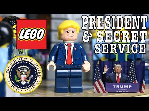 THE PRESIDENT & SECRET SERVICE IN LEGO! DONALD TRUMP, AIRFORCE ONE, MARINE ONE and MOTORCADE