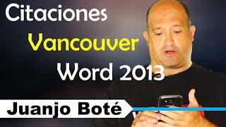 Agregar Estilo Vancouver en Word 2013 Windows 7 Windows 8 Windows 10