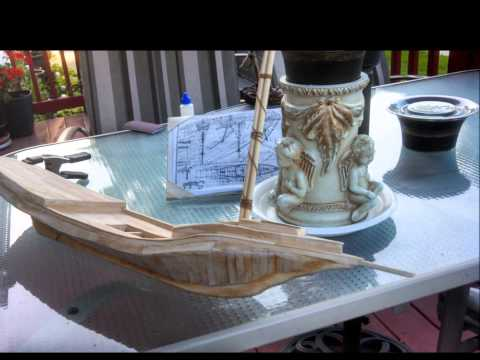 Model Ship Building,Sinbads Ship:The Chimera. Out Of Popsicle Sticks..