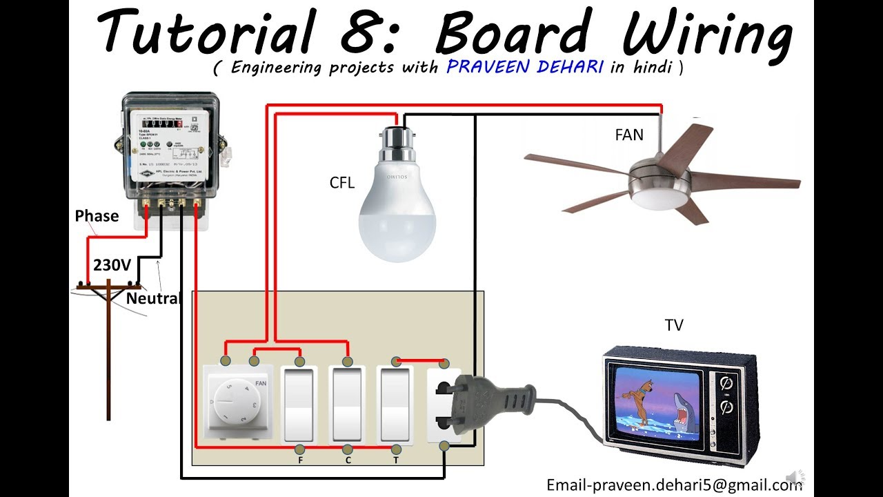 Electrical Board Wiring : Tutorial 8 - YouTube