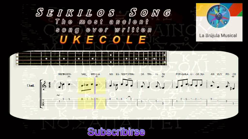 Seikilos Song The Most Ancient Song Ever Written For Ukulele Youtube