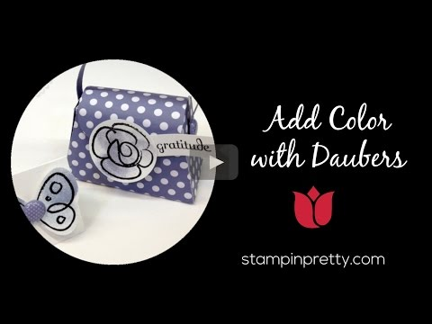 Stampin' Pretty Tutorial:  How To Add Color With Stampin' Up! Daubers