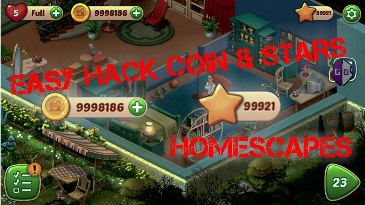 Homescapes Easy Hack Star And Coin Gameguardian Youtube Simple Tricks Coins Hacks