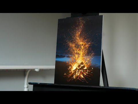 Painting Fire on the Beach with Acrylics - Paint with Ryan - Stay Creative Painting with Ryan O'Rourke