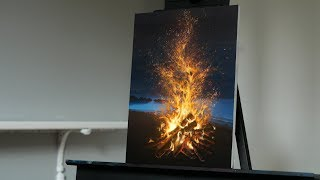 Painting Fire on the Beach with Acrylics - Paint with Ryan