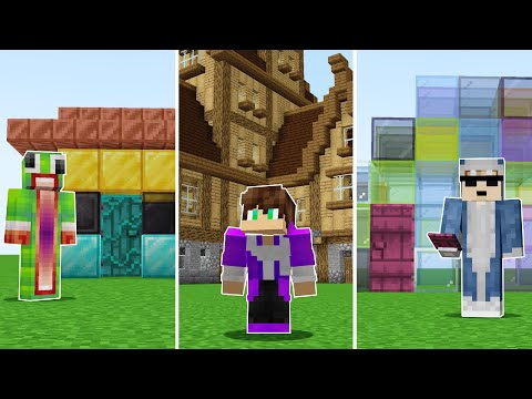 Minecraft Build Swap with Unspeakable and Shark!