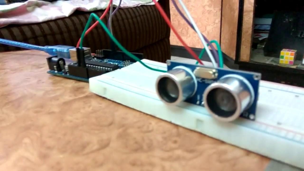 Measuring Distance Using Ultrasonic Sensor Arduino Uno 8051 Microcontroller Rangefinder Circuit Diagram