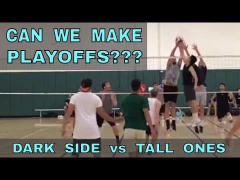 CAN WE MAKE PLAYOFFS? - Dark Side vs Tall Ones (FULL GAME 8/31/17) - IVL Men's Open Volleyball