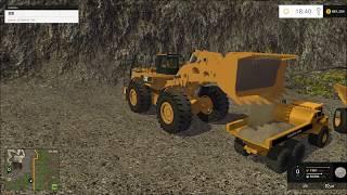 Farming simulator 2015 mining, Hauling to the wash plant!!